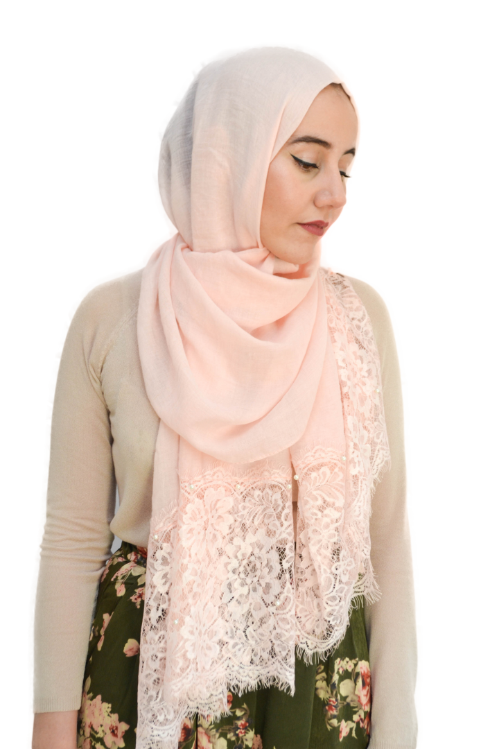 Shawl lace with pearls