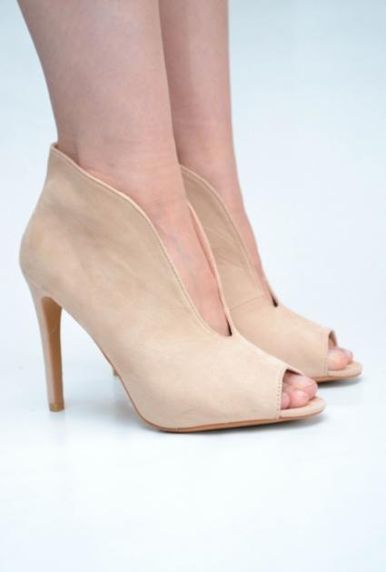 Peep toe heels - CREAM