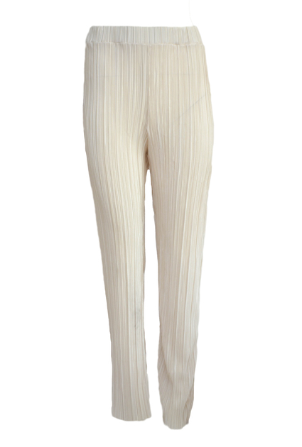 Plisse Pants Shine - CREAM