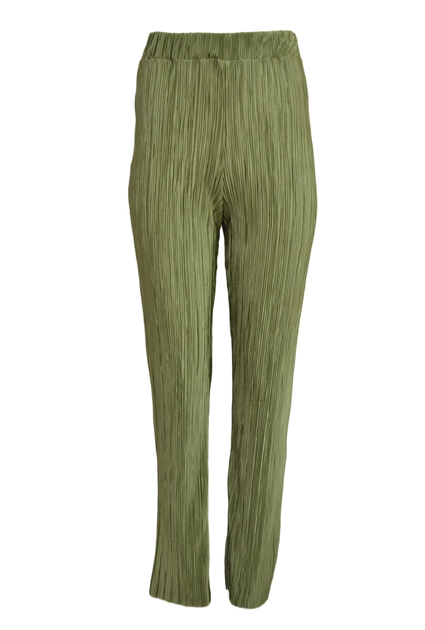 Plisse Pants Shine - GREEN
