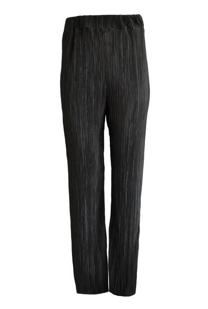 Plisse pants shine - BLACK