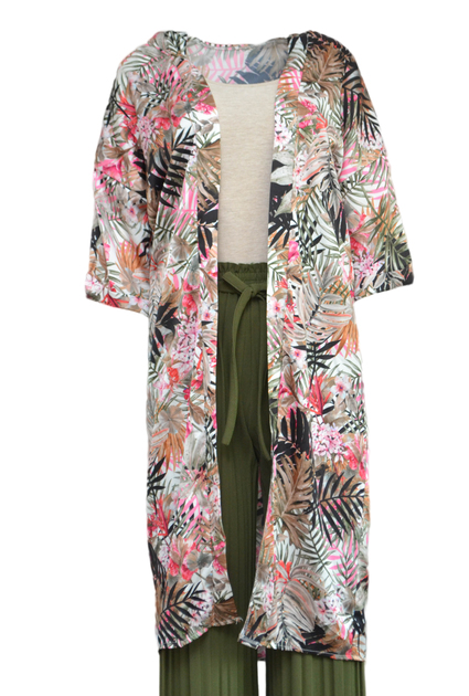 Kimono Jungle Long - WHITE