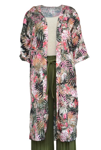 Kimono Jungle Long - BLACK