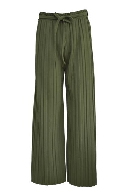 Plisse Pants - GREEN
