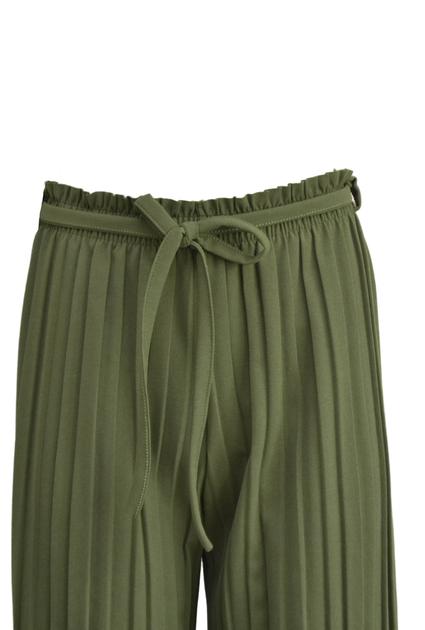 Plisse Pants - GREEN -