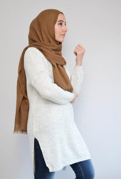 Sweater knit pearl - CREAM
