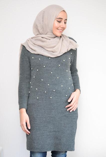 Sweaterdress Pearl - GREY
