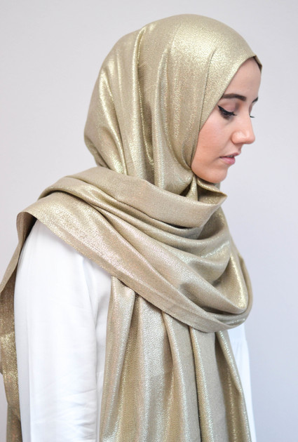 Sjaal Glam - TAUPE GOUD