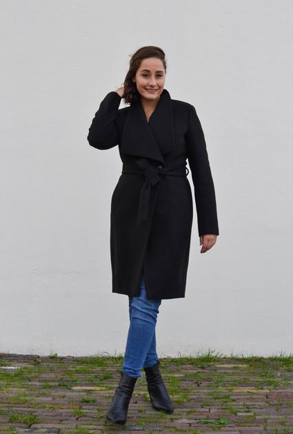 Coat Aspen short - BLACK
