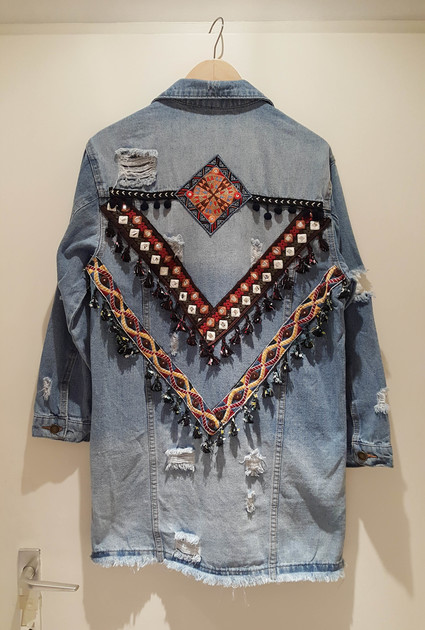 Jeans jacket Boho