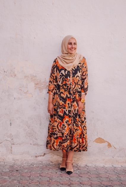 Dress Neela - orange