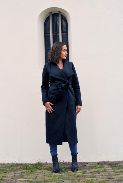 Coat Aspen long - BLACK
