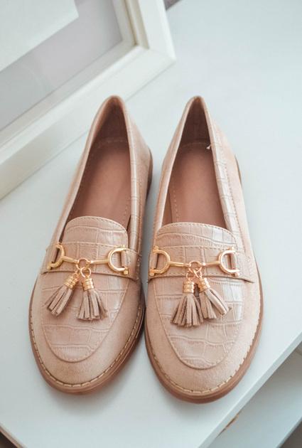 Loafers Desie - BEIGE