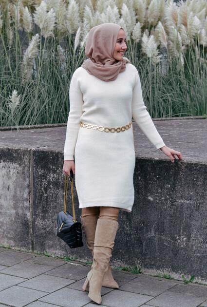 Sweaterjurk Emma - CREME