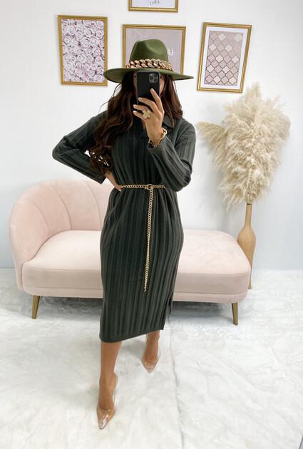 Sweater dress Lynda - GREEN