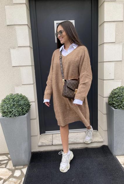 Sweater jurk Lyla - CAMEL