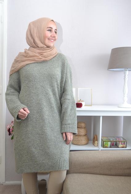 Sweater jurk Lyla - GROEN