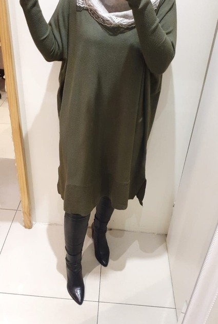 Sweaterdress Jane - GROEN
