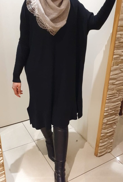 Sweaterdress Jane - ZWART