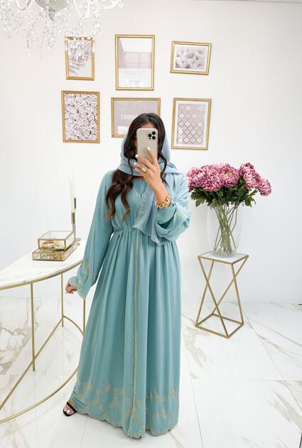 Abaya Huda - BLAUW