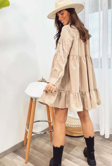 Blouse Beth - TAUPE