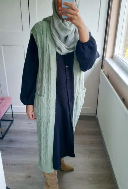 Vest Ella - MINTGROEN