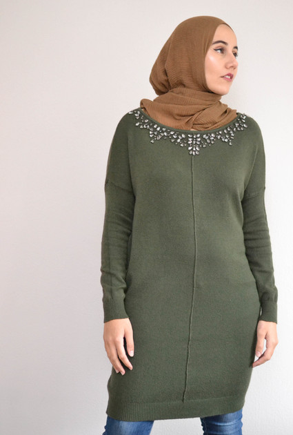 Knitted sweater - Green