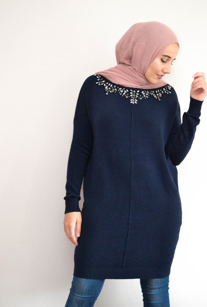 Knitted sweater - Blue